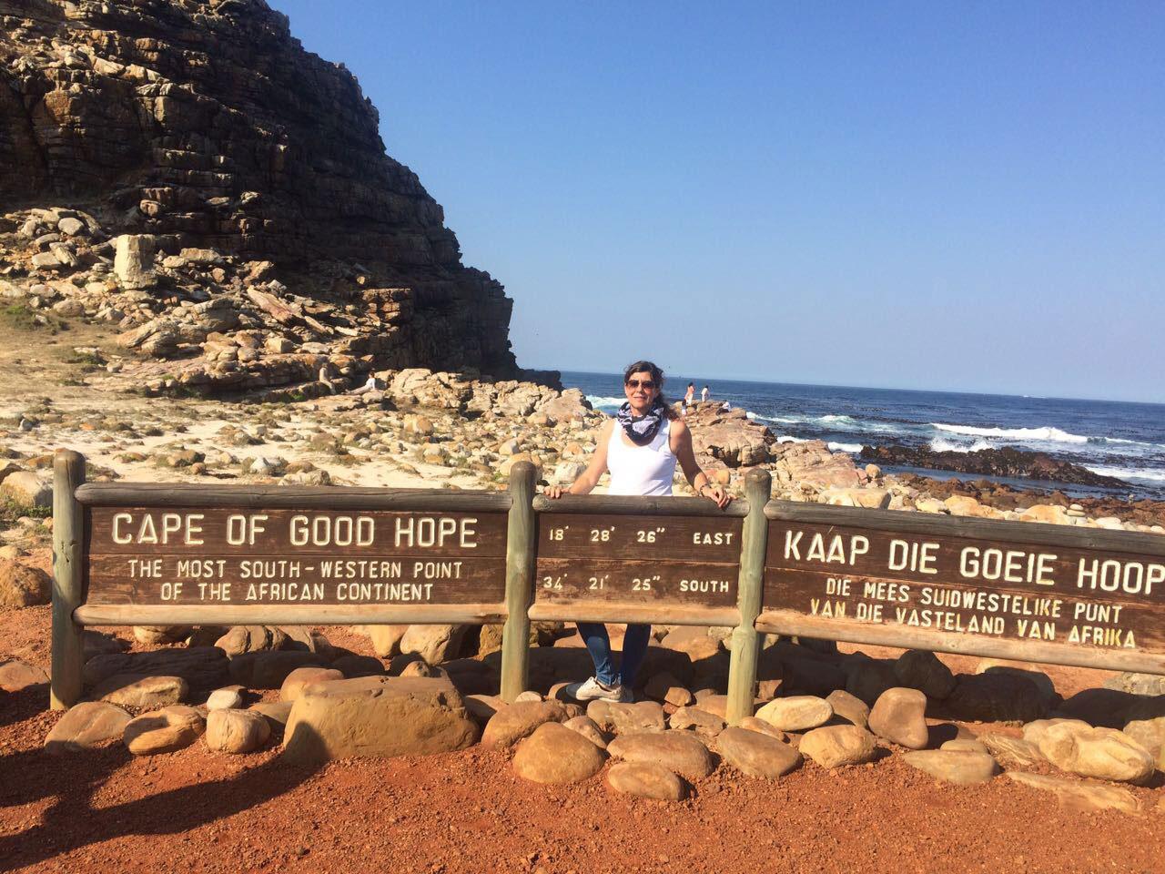 Claudia Licht am Kap der Guten Hoffnung